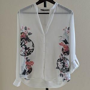 Desigual Roll Sleeve Shirt /Blouse